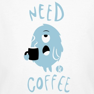 Need Coffee Monster (2c) T-Shirts - Männer Bio-T-Shirt