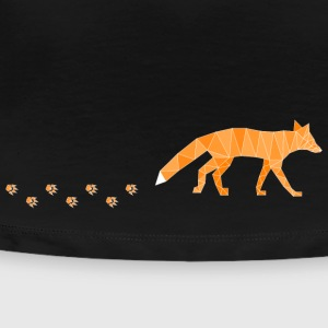 Polygonal Fox with Footprints T-Shirts - Frauen Premium T-Shirt