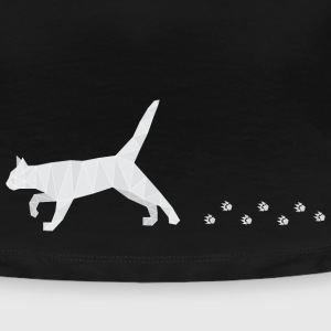 Polygonal Cat with Footprints T-Shirts - Frauen Premium T-Shirt