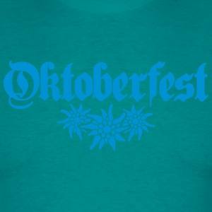 Oktoberfest, edelweiss, flower, bavaria, party, ce T-Shirts - Men's T-Shirt