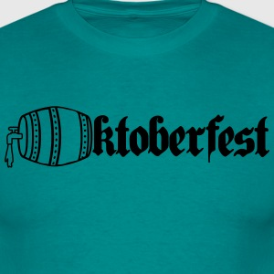 Octoberfest, beer, drinking, alcohol, barrel, bava T-Shirts - Men's T-Shirt