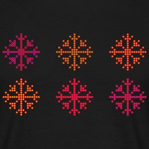Snowflakes of dots - Men's T-Shirt