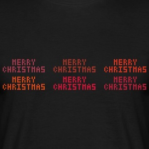 Merry Christmas of dots - Men's T-Shirt