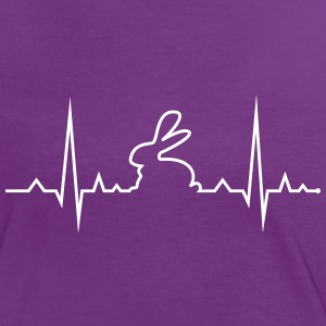 bunny rabbit heartbeat ECG cony hare love T-Shirts - Women's Ringer T-Shirt
