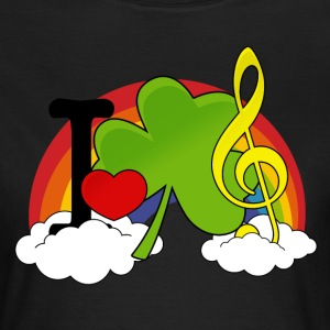 I love Irish Music T-Shirts - Frauen T-Shirt