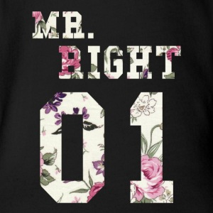MR. RIGHT! (Partner shirt 2of2) Baby body - Baby bio-rompertje met korte mouwen