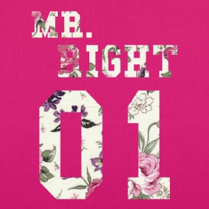MR. RIGHT! (Partner shirt 2of2) Bags & Backpacks - EarthPositive Tote Bag