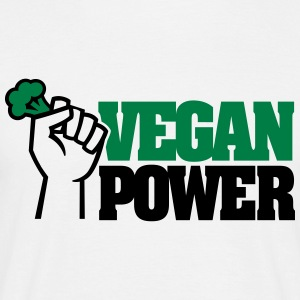 Vegan Power T-shirts - Mannen T-shirt
