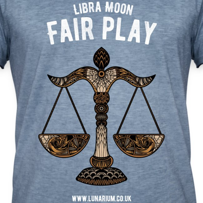 Libra Moon Men's Vintage T-Shirt
