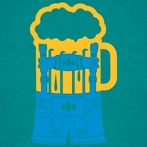 lederhosen kostume dragt øl drink jar drikke party T-shirts - Herre-T-shirt