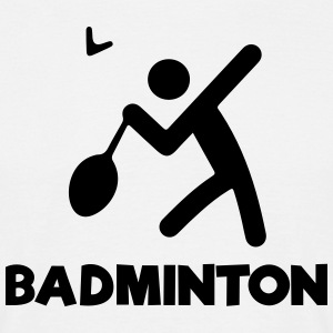 BADMINTON Stickfigure T-Shirts - Men's T-Shirt