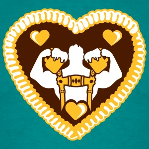 Gingerbread heart, love, tasty, stag, antlers, okt T-Shirts - Men's T-Shirt