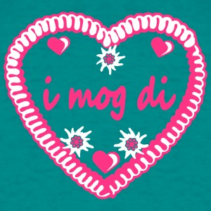 I mog di hearts edelweiss flowers gingerbread hear T-Shirts - Men's T-Shirt