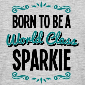 sparkie born to be world class 2col - Men's T-Shirt