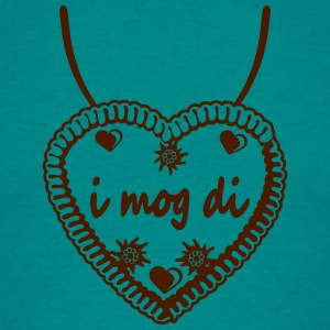 Necklaces i mog di hearts edelweiss flowers ginger T-Shirts - Men's T-Shirt