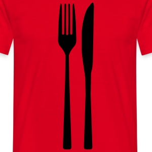 Messer Gabel - Spoon Fork T-Shirts - Männer T-Shirt