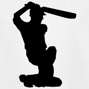 Cricket Player Silhouette Shirts - Kids' T-Shirt