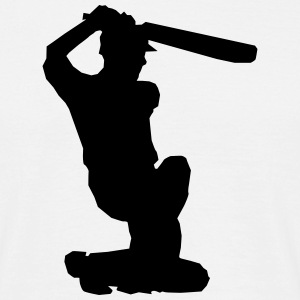 Cricket Player Silhouette T-Shirts - Men's T-Shirt