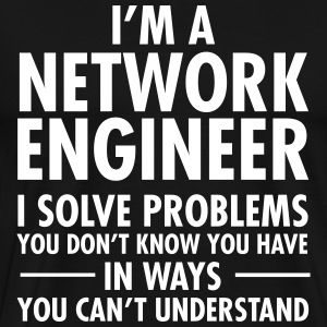 Geek Network Engineer Solve Problems T-Shirts - Men's Premium T-Shirt