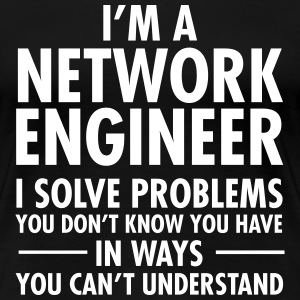 Geek Network Engineer Solve Problems Camisetas - Camiseta premium mujer