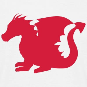 Baby Dragon Silhouette T-Shirts - Men's T-Shirt