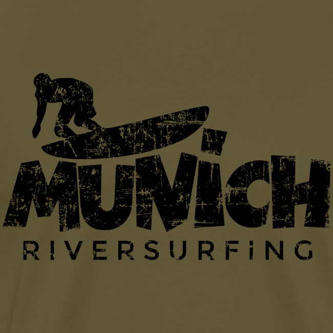 Munich Riversurfing (Vintage/Schwarz) S-5XL T-Shirt