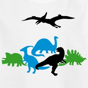 Dinosaur Characters (Silhouettes) Shirts - Kids' T-Shirt