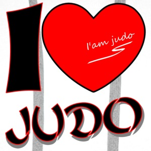 Sweat shirt judo I LOVE JUDO - Sweat-shirt à capuche Premium pour hommes