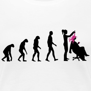 Friseurin Evolution T-Shirts - Frauen Premium T-Shirt