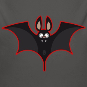 Bat black red Baby Bodysuits - Longlseeve Baby Bodysuit