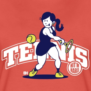 Tennis, Hit'm hard T-shirts - Premium-T-shirt dam
