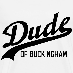 Dude of Buckingham T-shirts - Herre premium T-shirt