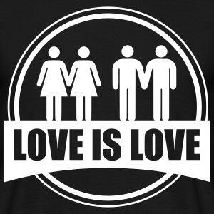 Love is love paare gay pride Lesbisch - Maglietta da uomo