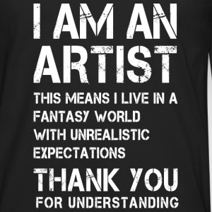 I am a Artist ... White on Black Long sleeve shirts - Men's Premium Longsleeve Shirt