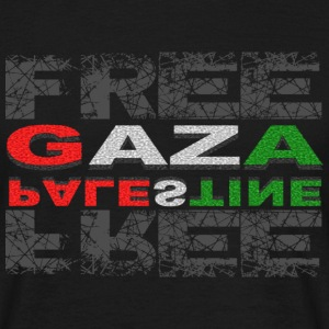 T-SHIRT HOMME FREE GAZA FREE PALESTINE - T-shirt Homme