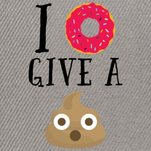 Donut Give A Sh*t Funny Quote  Caps & Hats - Snapback Cap