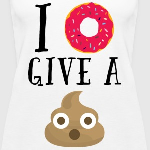 Donut Give A Sh*t Funny Quote  Topy - Tank top damski Premium