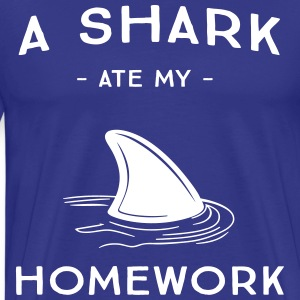 A shark at my homework T-Shirts - Men's Premium T-Shirt