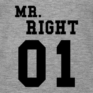 MR. RIGHT! (Partner skjorte 2of2) Topper - Premium singlet for kvinner