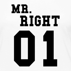 MR RIGHT! (Partner skjorta 2of2) Långärmade T-shirts - Långärmad premium-T-shirt dam