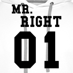 MR. RIGHT! (Partner shirt 2of2) Sweaters - Mannen Premium hoodie