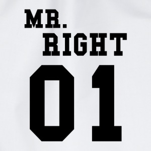MR. RIGHT! (Partner shirt 2of2) Bags & Backpacks - Drawstring Bag