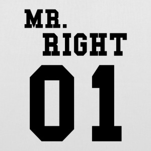 MR. RIGHT! (Partner shirt 2of2) Bags & Backpacks - Tote Bag