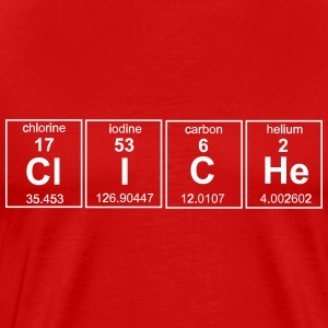 Cliche Periodic Table T-Shirts - Men's Premium T-Shirt