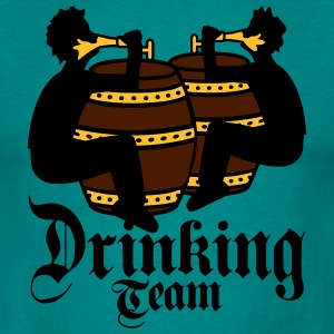 Drinking team friends team drinking beer barrel oc T-Shirts - Men's T-Shirt
