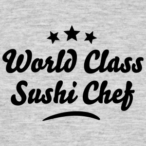 world class sushi chef stars - Men's T-Shirt