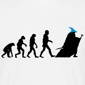 Wizard Human Evolution T-Shirts - Men's T-Shirt