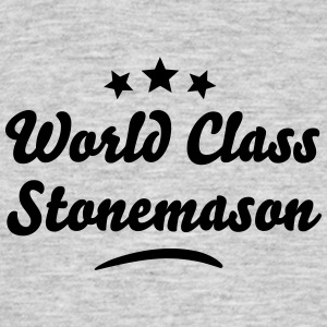 world class stonemason stars - Men's T-Shirt