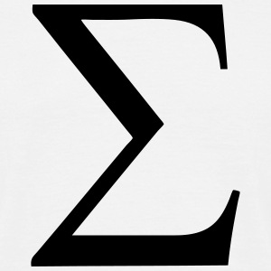 Greek Symbol - Sigma T-Shirts - Men's T-Shirt