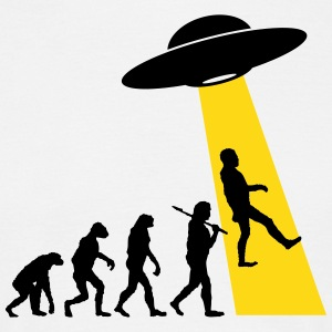 UFO Abduction - Human Evolution T-Shirts - Men's T-Shirt